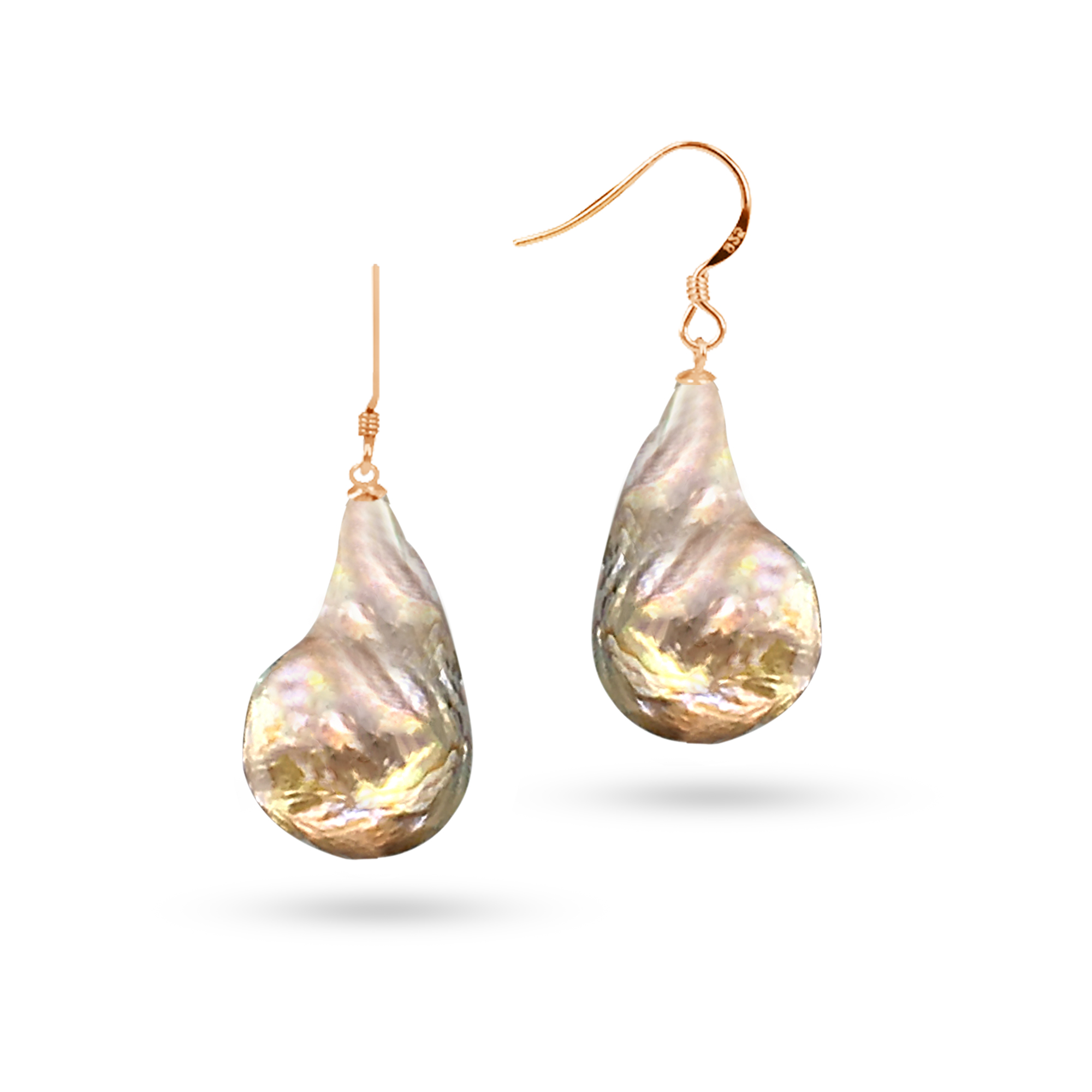 wire in product alcazar giant pearl french earrings