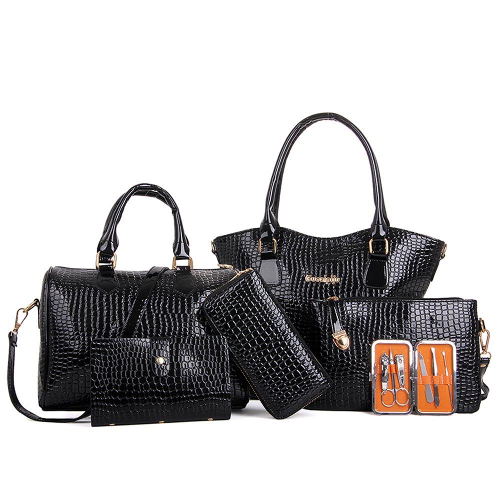 6 Piece Women Handbag Shoulder Bags