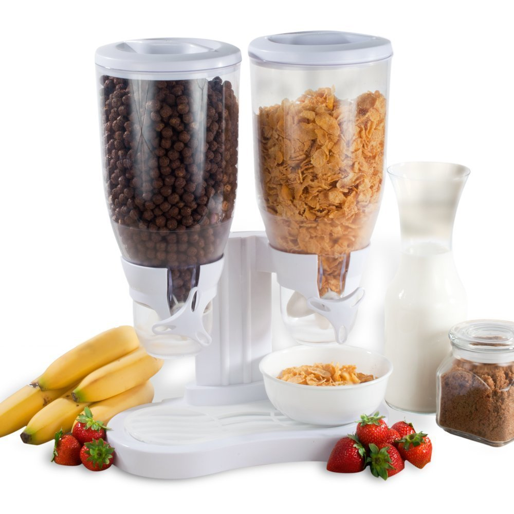 8oz Dual Cereal Dry Food Dispenser Container