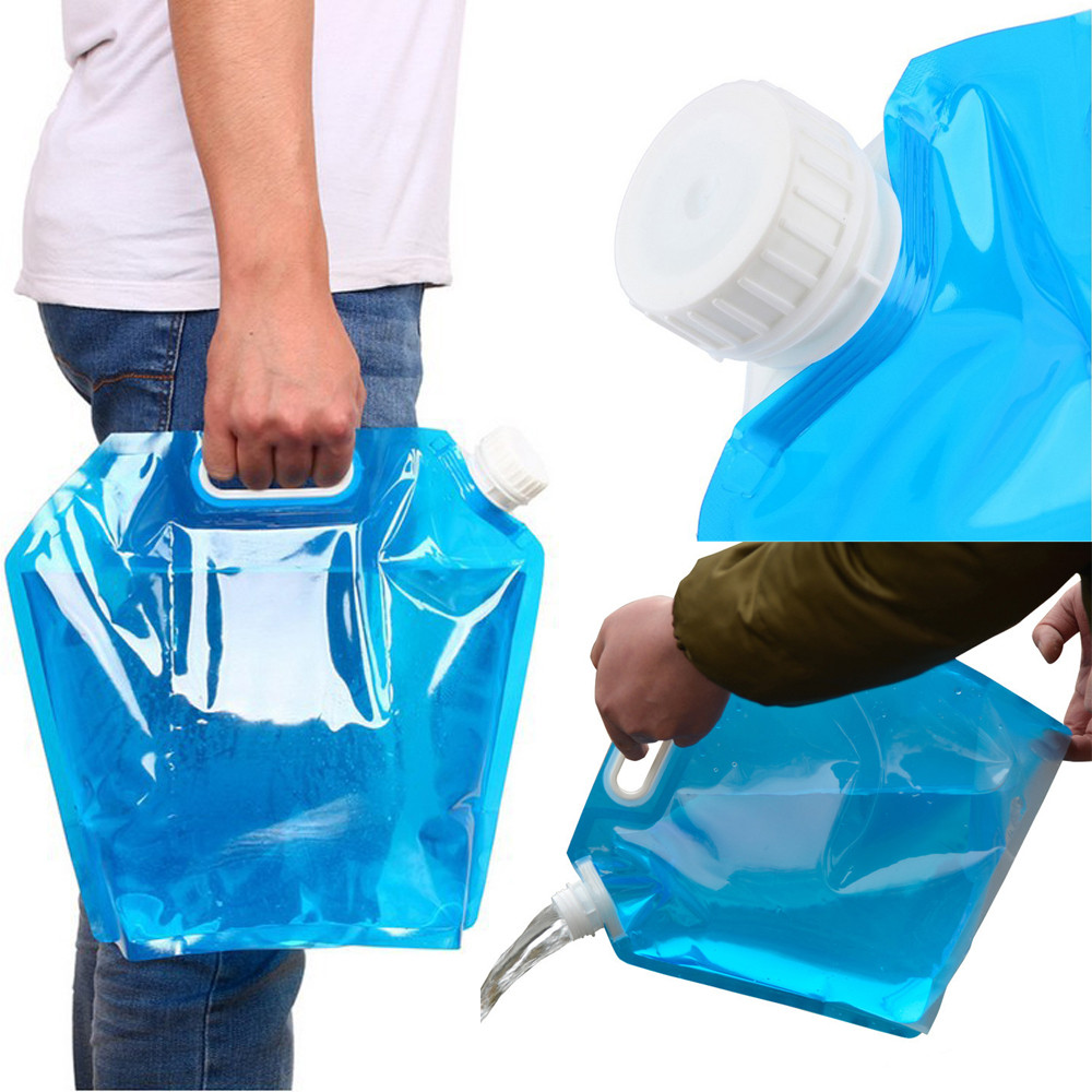 10L Folding Drinking Water Bucket Camping Water Container Storage Bag