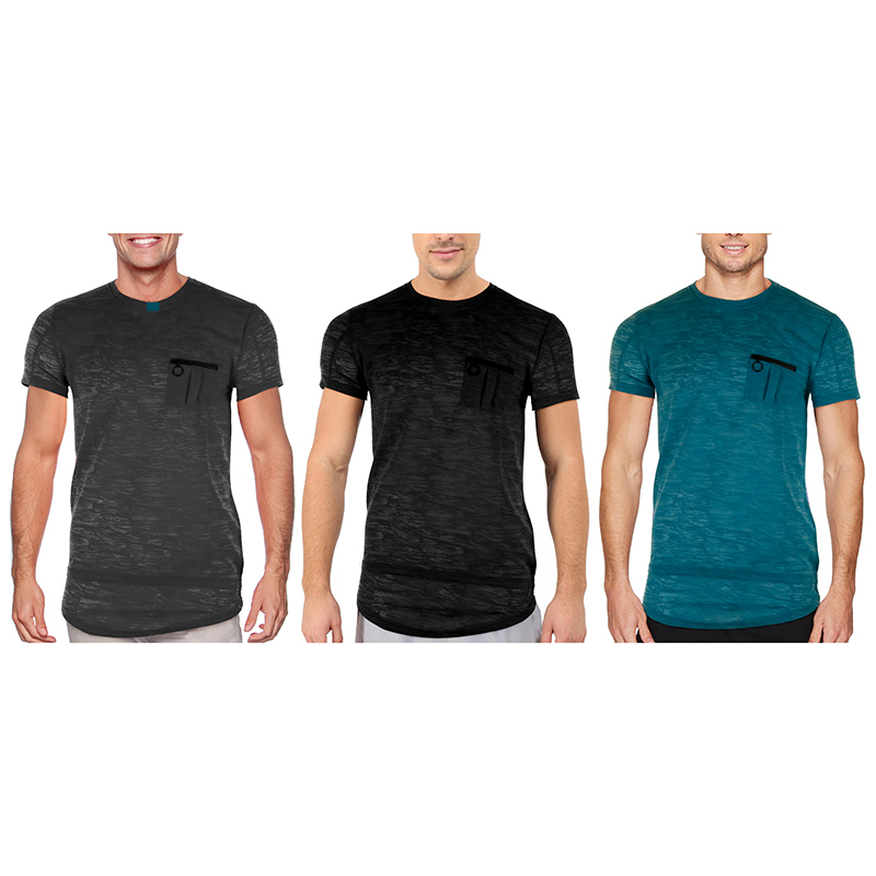 Men s Hipster Casual Marled T-Shirt (S-2X)