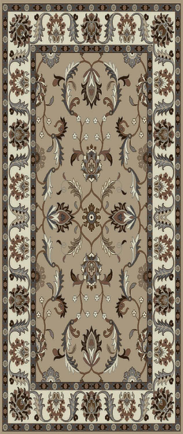 3 X 12 Publius Mushroom Brown And Creme Hand Tufted Wool
