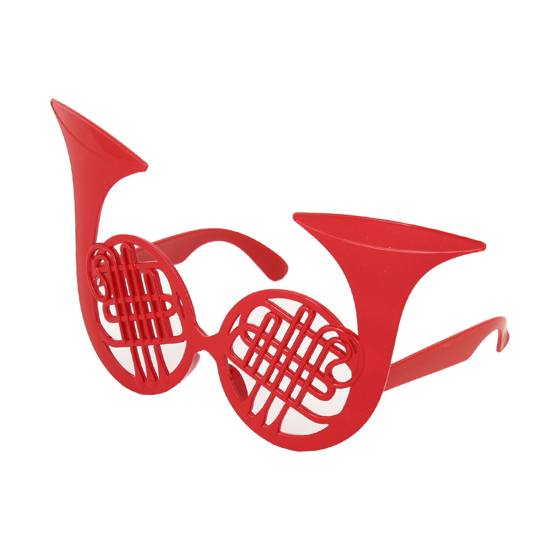 woman red saxophone design fancy masquerade party eye mask