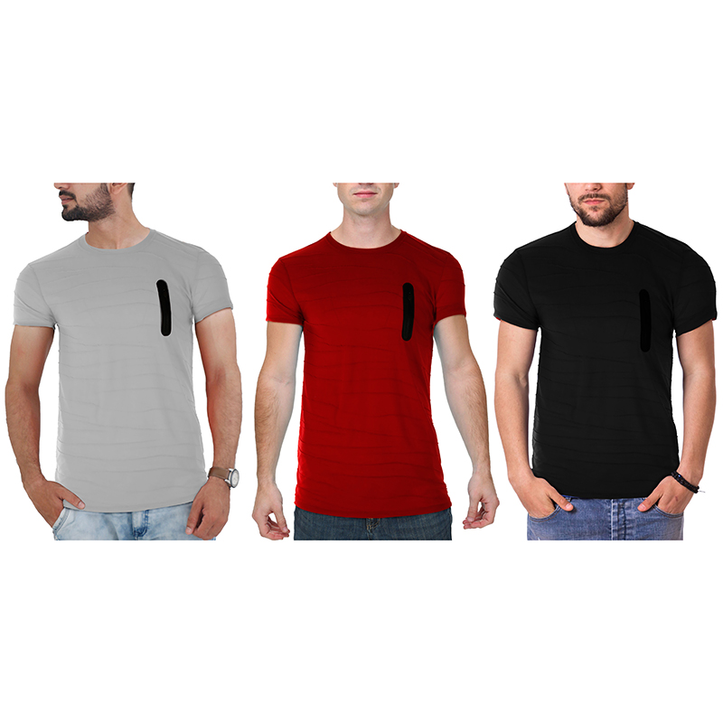 Men s Hipster Lightweight Striped T-Shirt (S-2X)