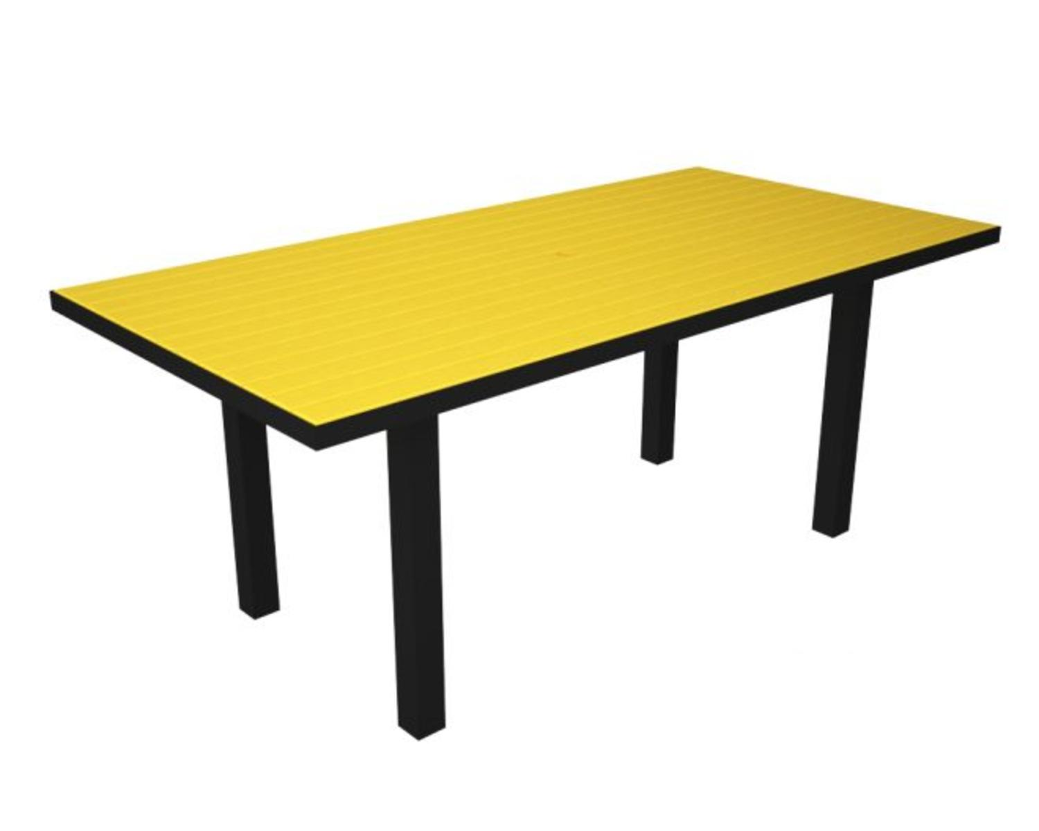 Recycled european rectangle dining table sunshine yellow for Nfpa 99 table 5 1 11
