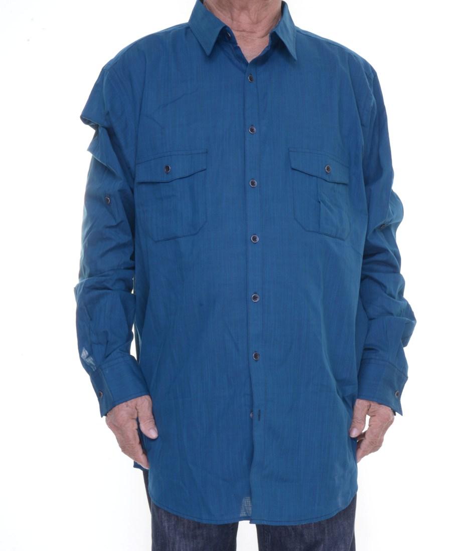 Alfani Twilight Teal Shirt Long Sleeve Size Xlt Nwt