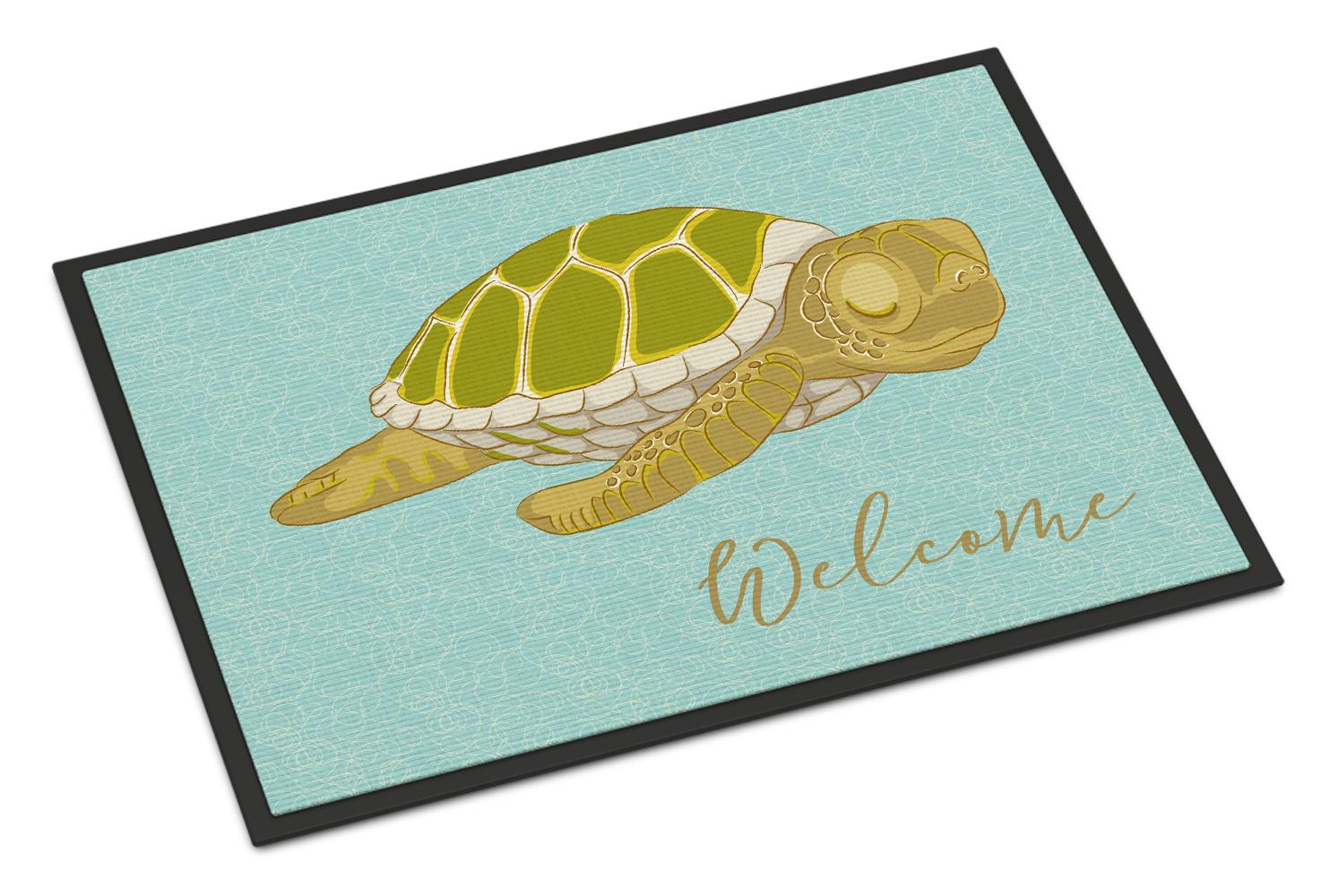 Sea Turtle Welcome Indoor Or Outdoor Mat 18x27 Tanga