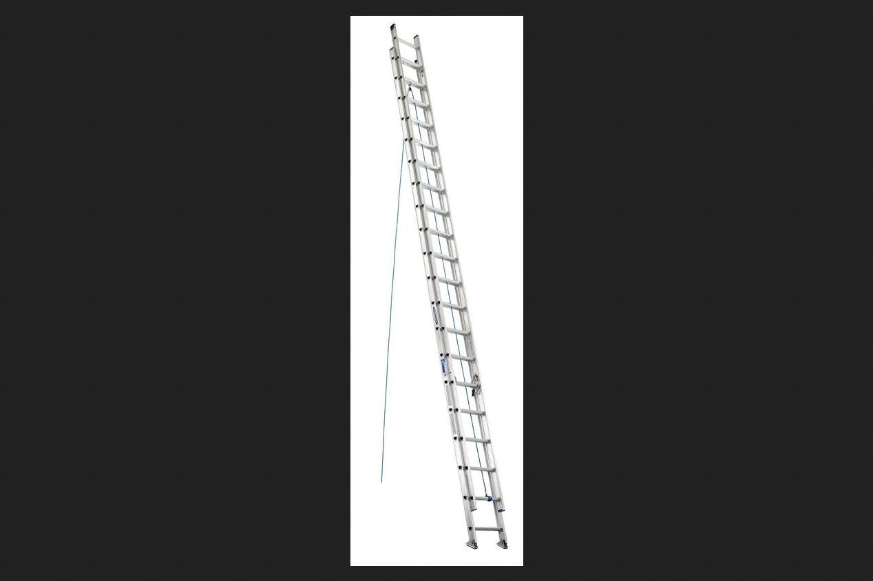 Werner Aluminum 40 Ft H Extension Ladder 250 Lb Type I