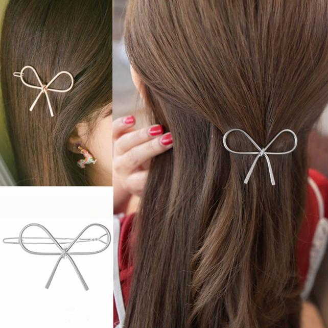 Geometric Bow Hairpin Accessory