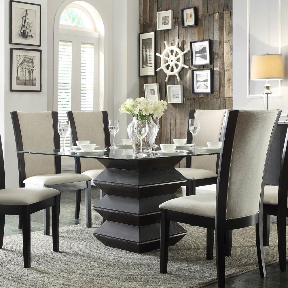 Homelegance havre 5 piece glass top dining room set w for Best deals on dining room sets