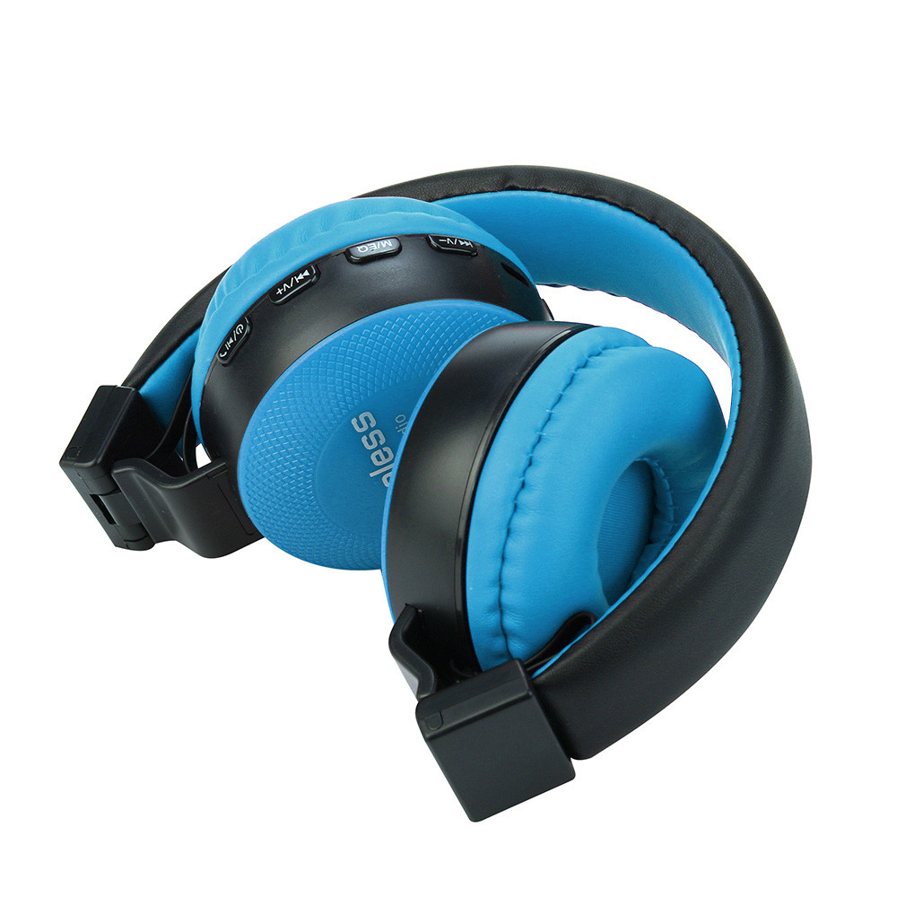 Rechargeable Wireless Bluetooth Foldable Over Ear Headphones With Mic