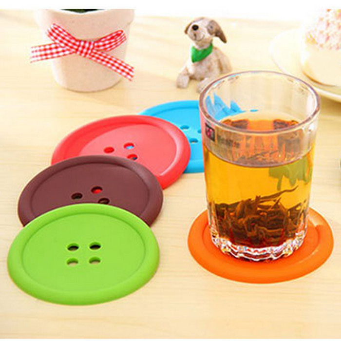 rRound Silicone Button Coasters 7638103