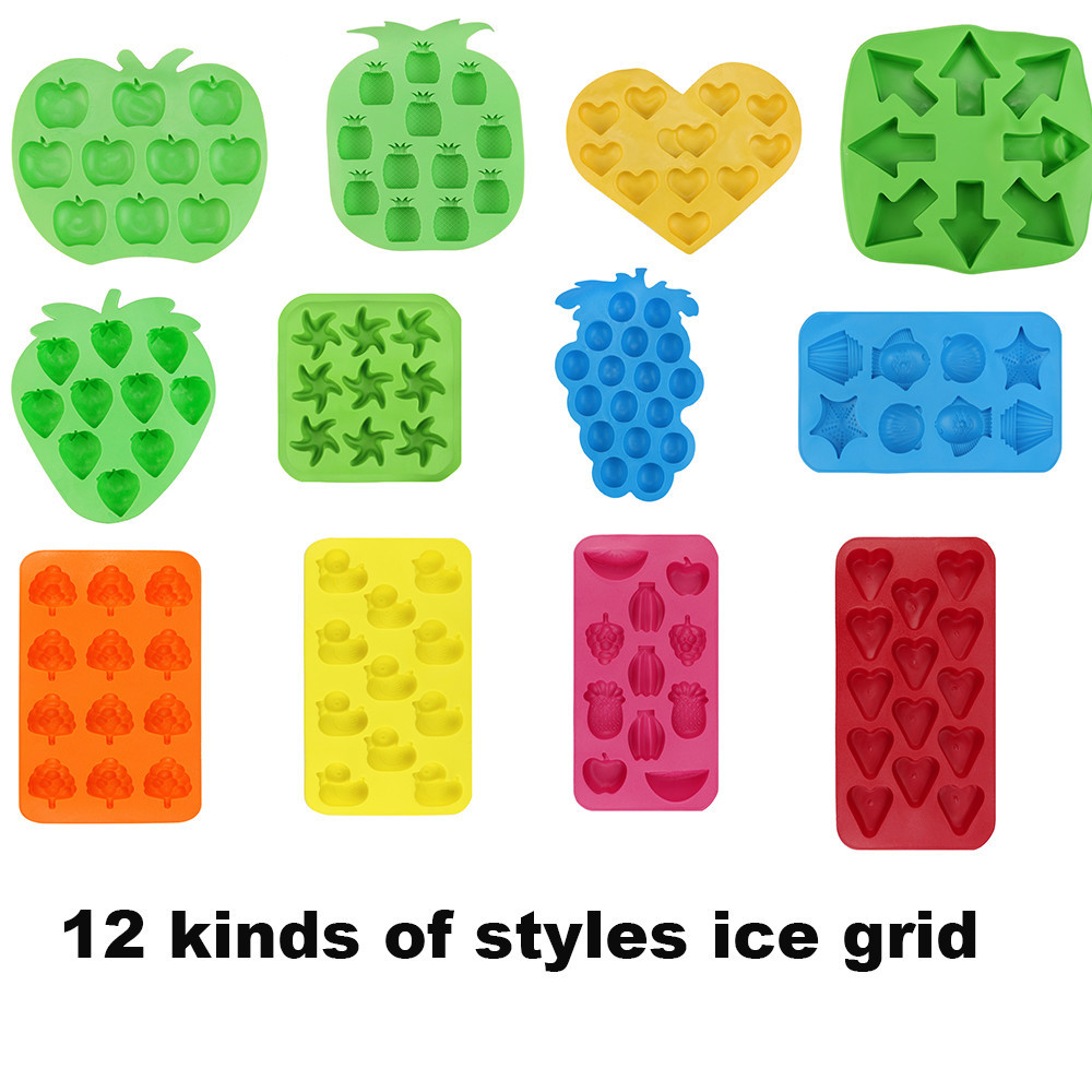 Cube Tray Freeze Mould Jelly Chocolate Mold Silicone Colorful Ice Ball