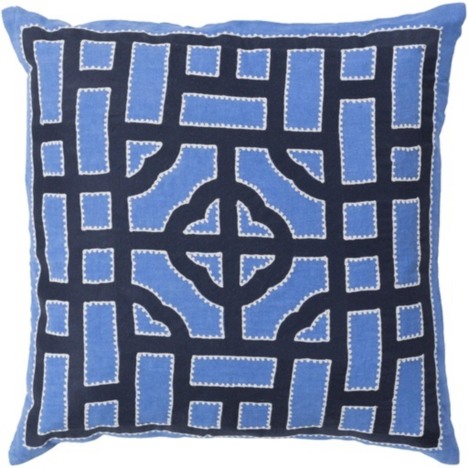 Royal Blue And White Throw Pillows : 18