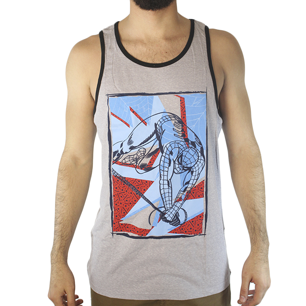Marvel Spider-Man Jumping Men s Grey Tank Top 9295418