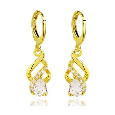 Gold Plated Crystal Droplet Earrings (5067544) photo