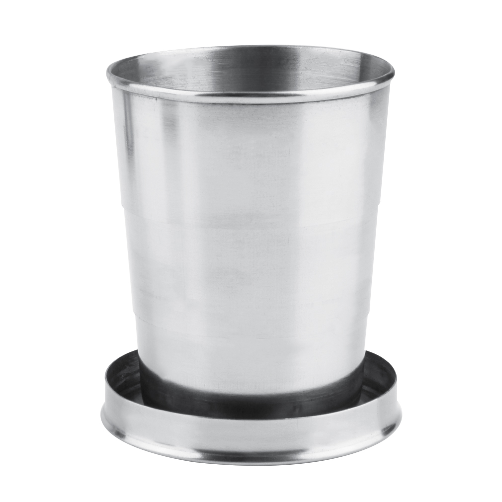 8oz 240ml Stainless Steel Folding Telescopic Collapsible Outdoor Cup 8485673