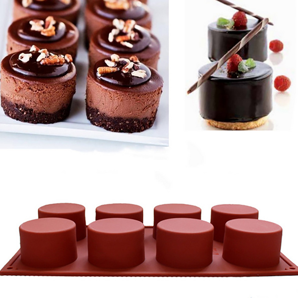 Round Flexible Silicone Cookie Mould Candy Chocolate Mould