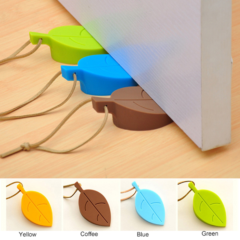 Cute Leaf Style Silicone Door Stop