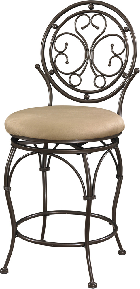 Powell Big And Tall Scroll Circle Back Counter Stool In