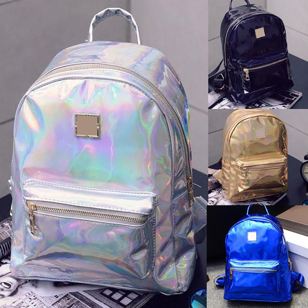 Women Fashion Faux Leather Backpack Travel Handbag Shoulder School Bag