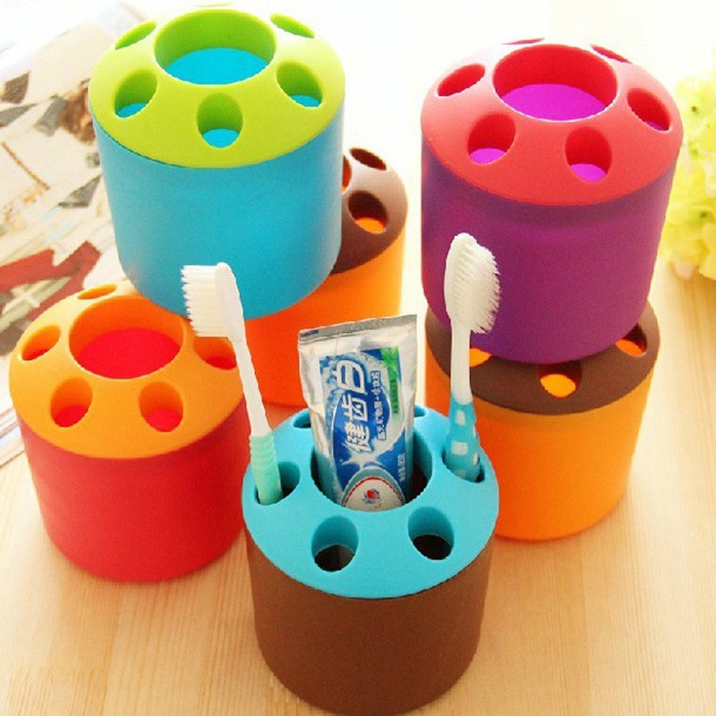Toothbrush Holder with a Mouthwash Cup 6636387
