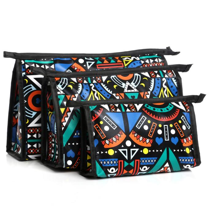 3 Piece Cosmetic Toiletry Travel Makeup Bag