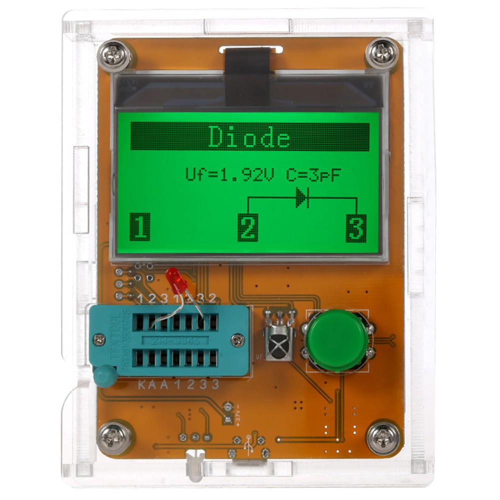 Lcr T7 Transistor Tester Multi Functional Lcd Backlight Didoe Triode Zener Diode Voltage Capa Tanga