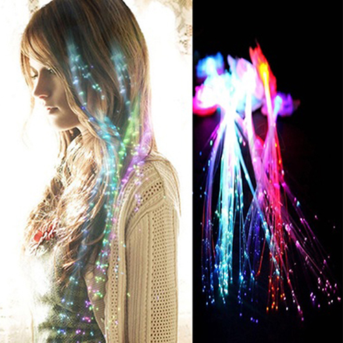 Clip In Glow LED Hair Extensions 7665065