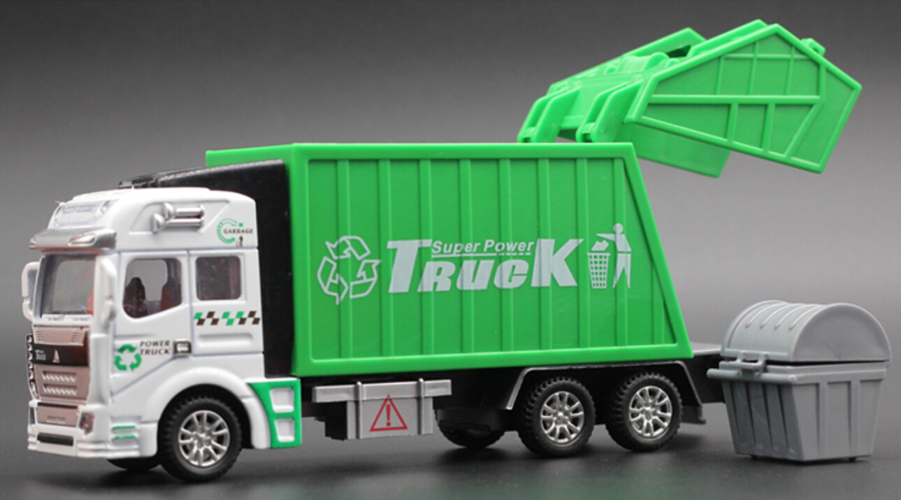 1 32 Racing Bicycle Shop Truck Toy Car Carrier Vehicle Garbage Truck G