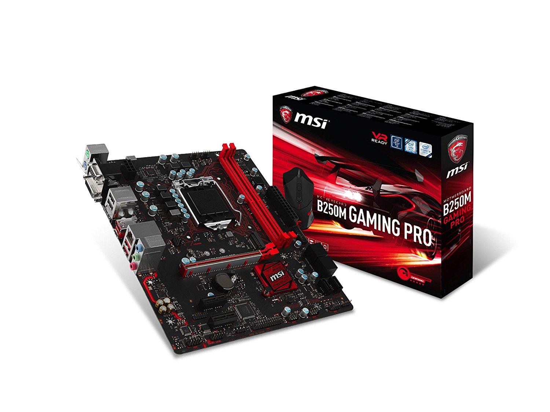 msi b250m gaming pro gaming intel b250 lga 1151 ddr4 hdmi micro atx motherb