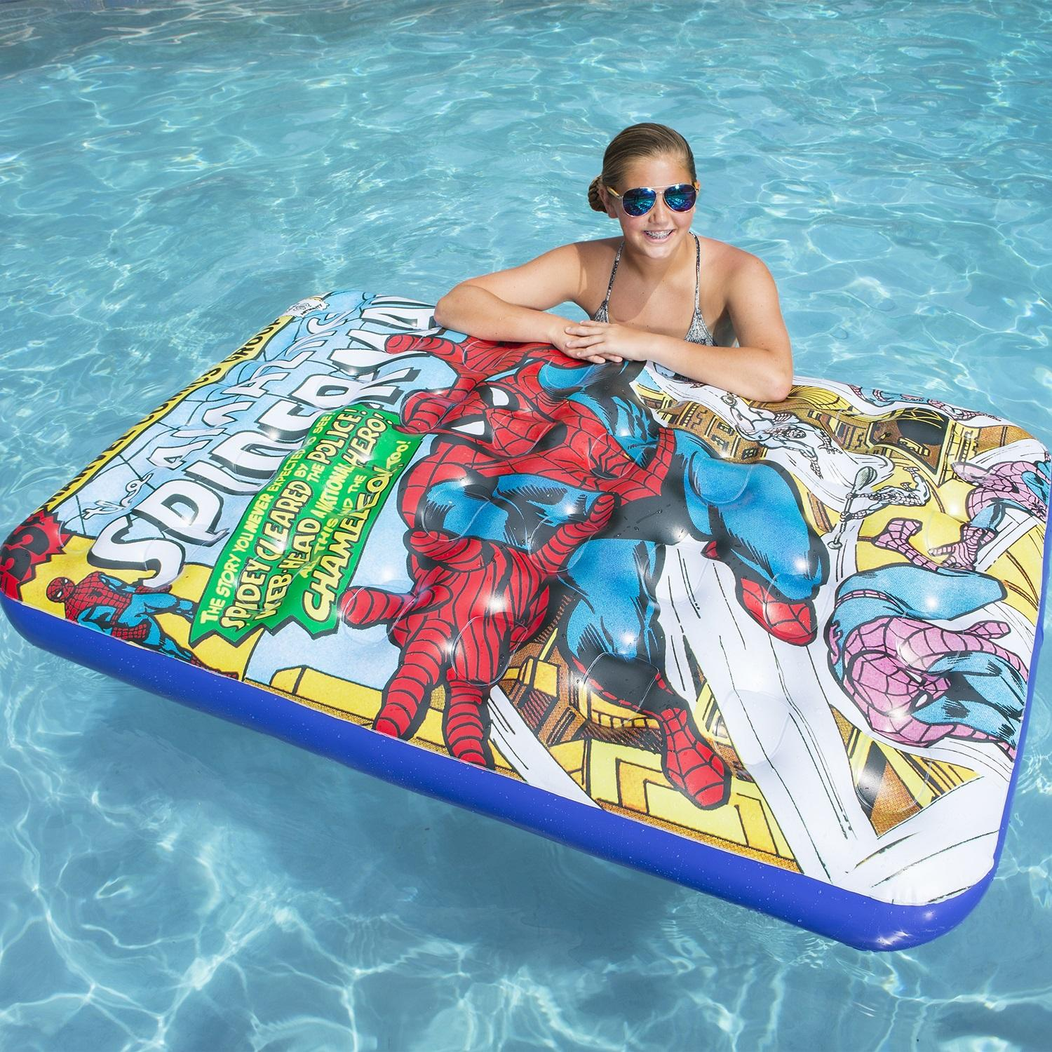 60  Marvel Spider-Man Inflatable Swimming Pool Float Lounger 96368b79b392