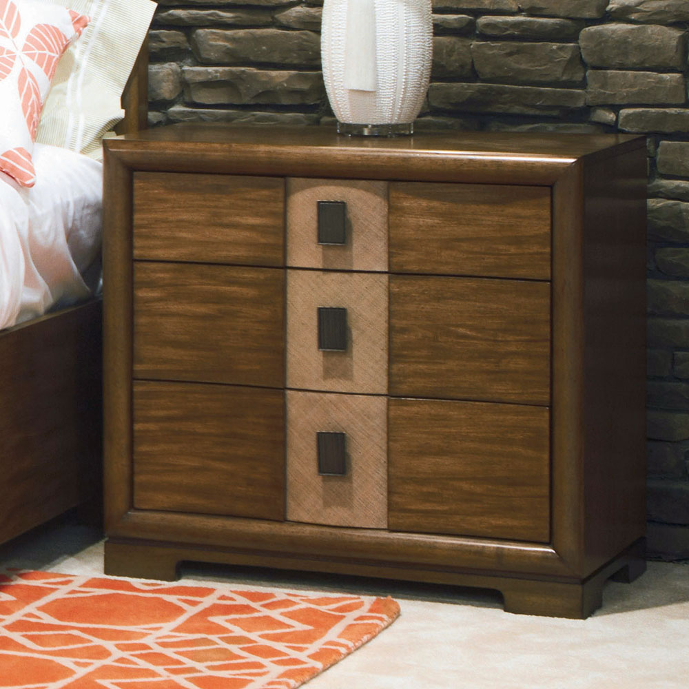 American Drew Grove Point 3 Drawer Nightstand in Soft ...