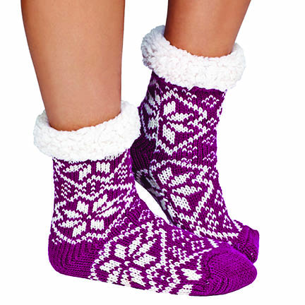 3-Pair Mystery Deal  Women s Ultra-Soft Fluffy Sherpa Anti-Slip Socks