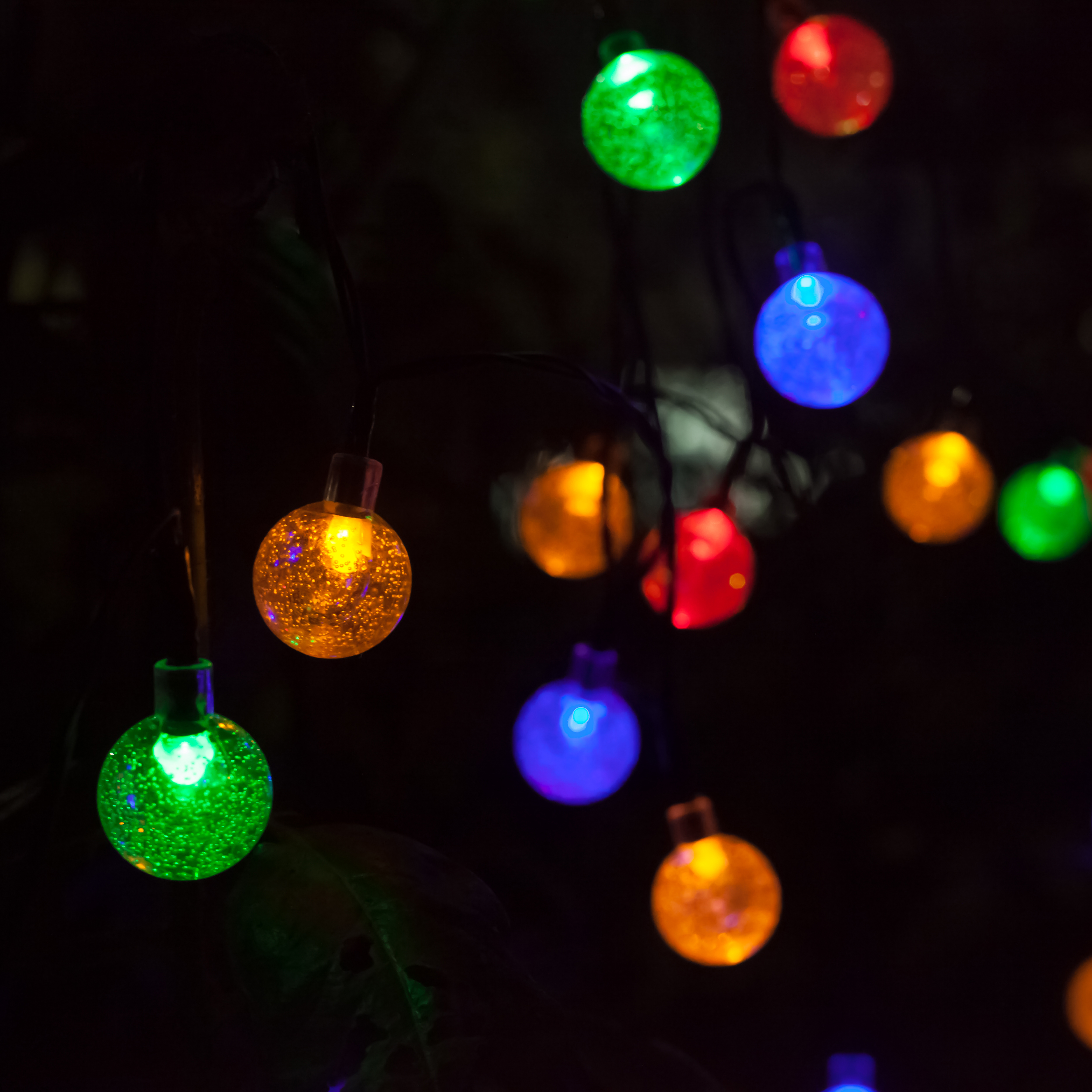 Solar Lights Home Bargains: Liger Solar LED String Ball Lights For Outdoor Home
