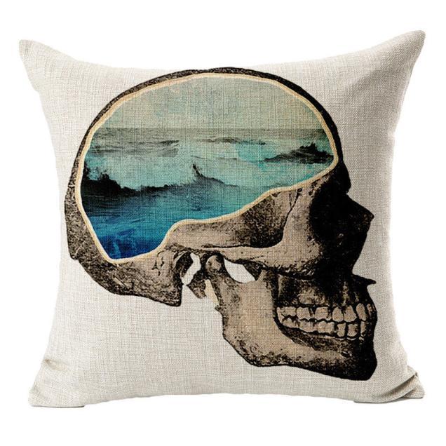 Skull Sofa Bed Home Decor Pillow Case Cushion Cover