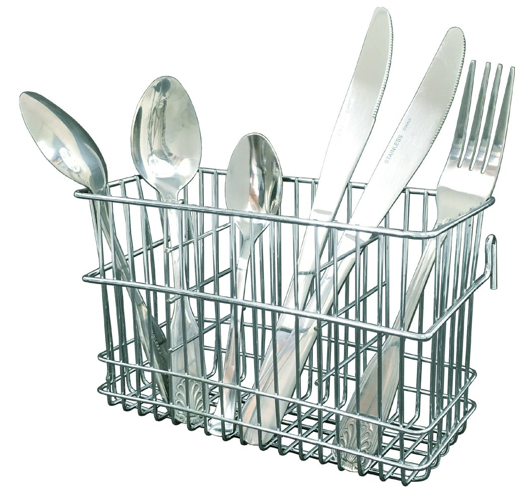 Drying Rack Chrome Steel Utensil Basket Holder 8689090
