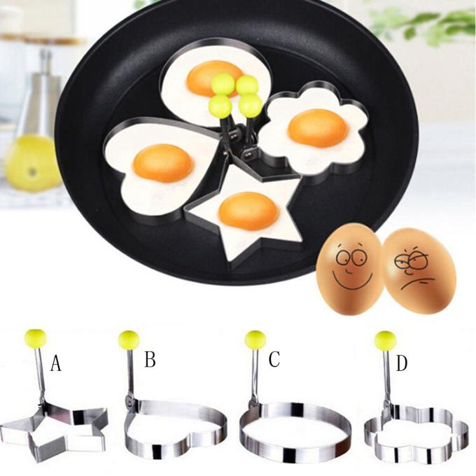Stainless Steel Fried Egg Shaper Pancake Mould Mold Kitchen Cooking To