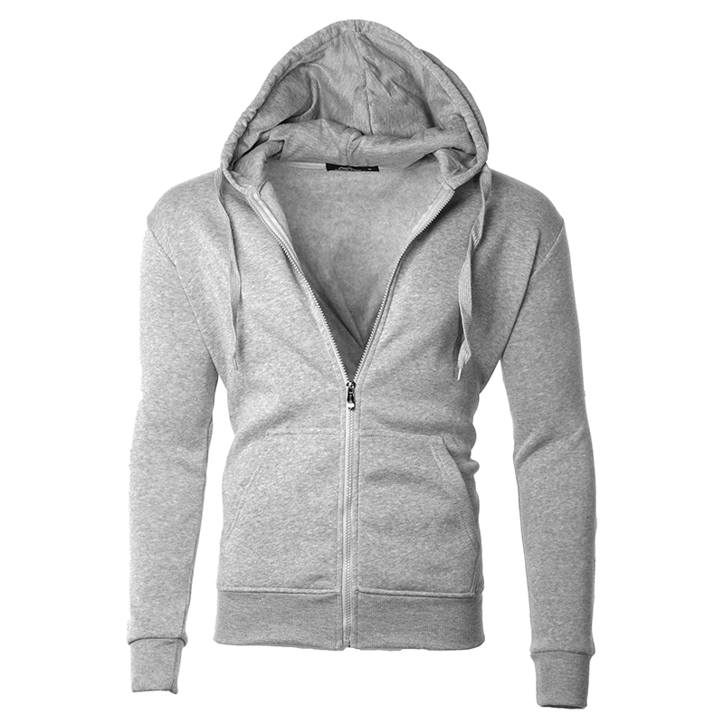 Men s Moisture Wicking Fleece-Lined Full-Zip Up Hoodie