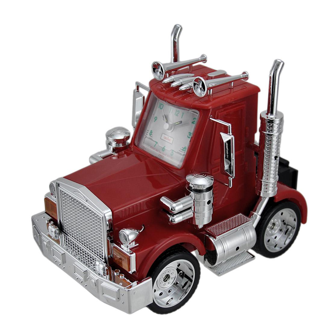 Big Rig Alarm Clock : North american big rig red semi truck alarm clock