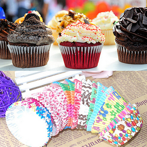 100 Piece Multicolor Paper Baking Cups caae879b93a5