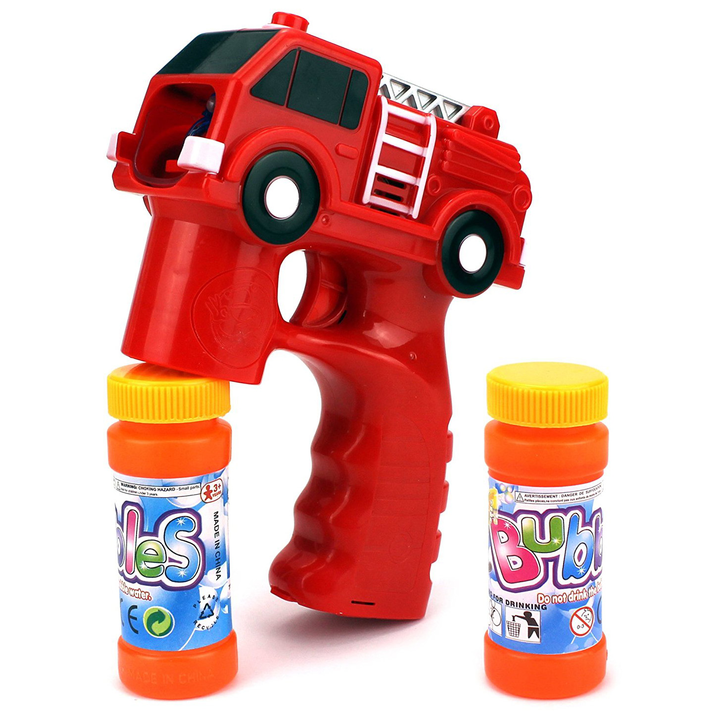 Rescue Fire Truck Battery Operated Toy Bubble Blowing Gun