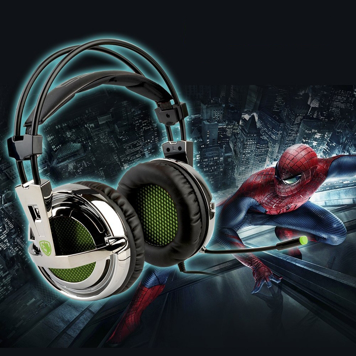 Sades Stereo Lightweight PC Gaming Headphones 3.5mm Jack With Mic