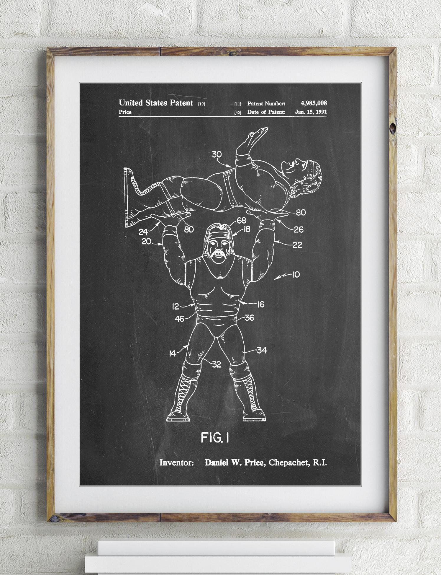 Hulk Hogan Wrestling Action Figure Patent Poster 2364537
