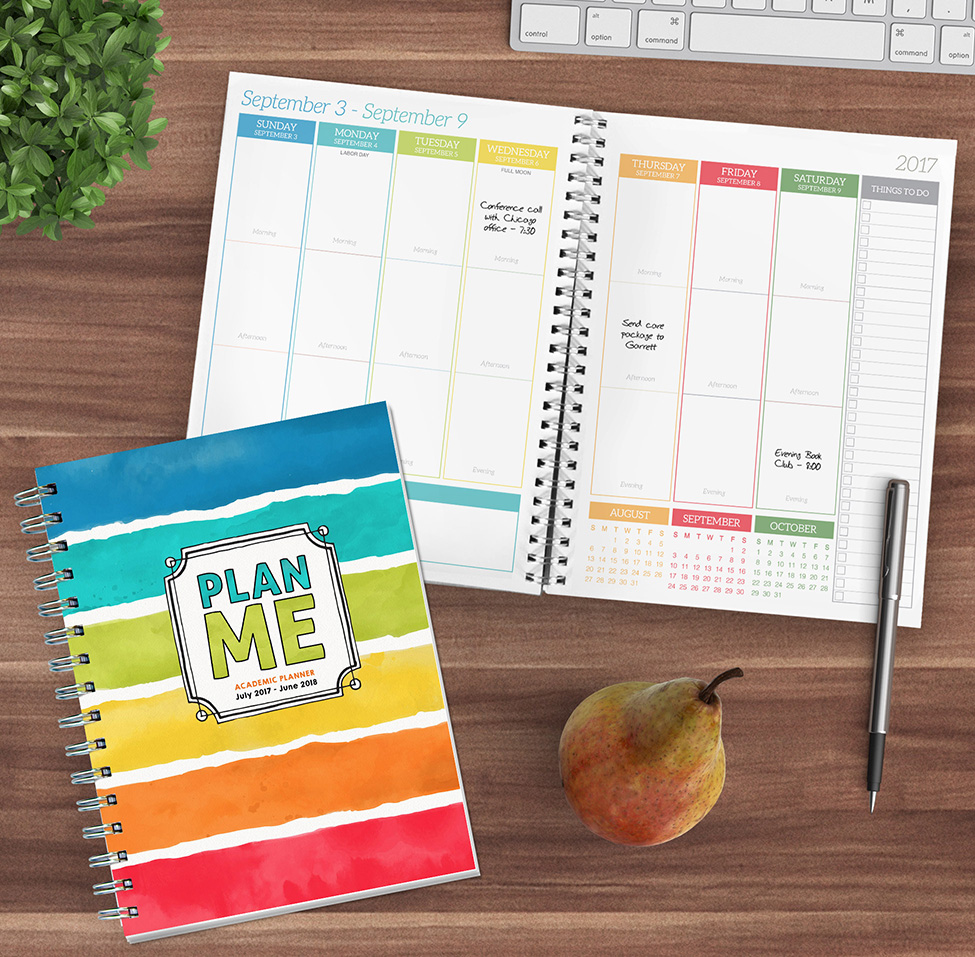 2018 Academic Year Plan Me Medium Weekly Monthly Planner