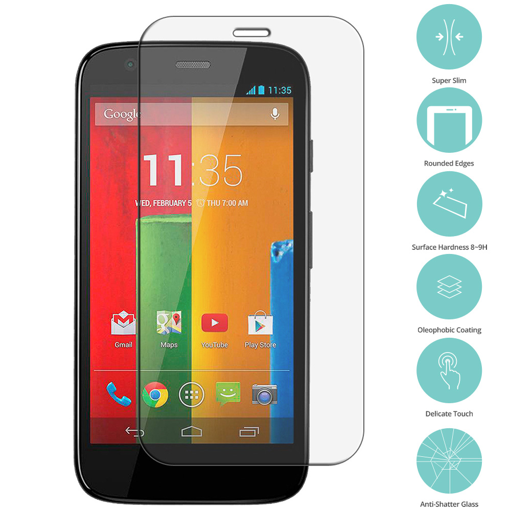 Motorola Moto G Tempered Glass Film Screen Protector Clear 15821