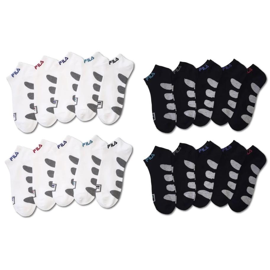 10 Pairs  Men s Fila Swift-Dry No Show Socks af1bba5dc241