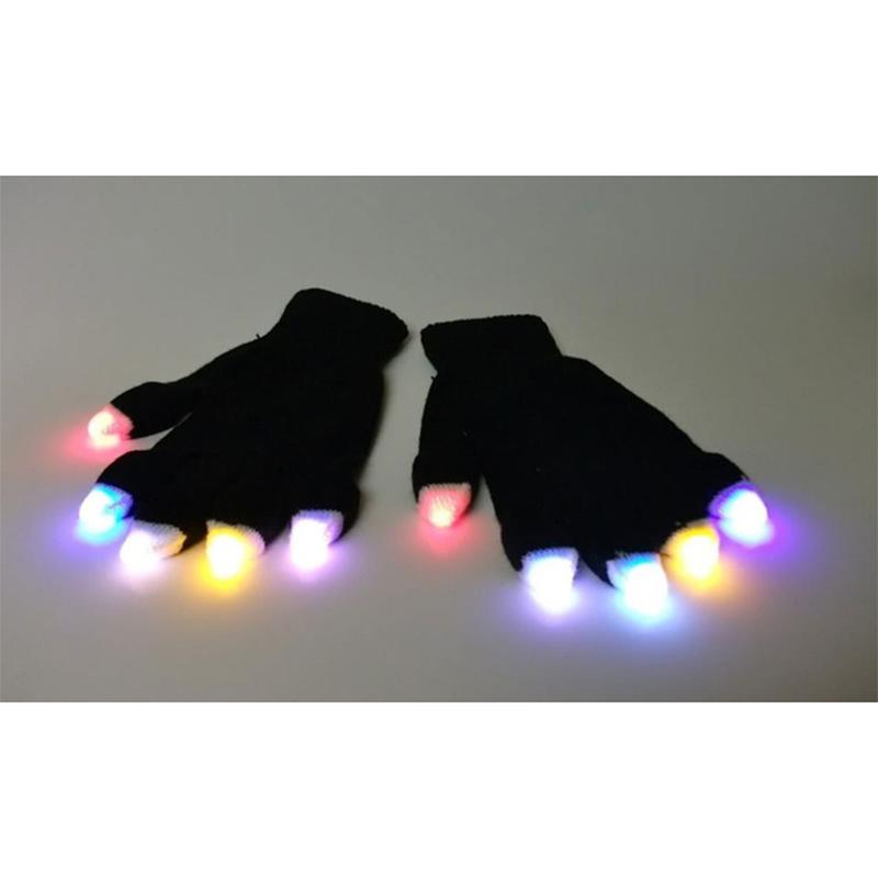 LED Fingertip Light Up Gloves