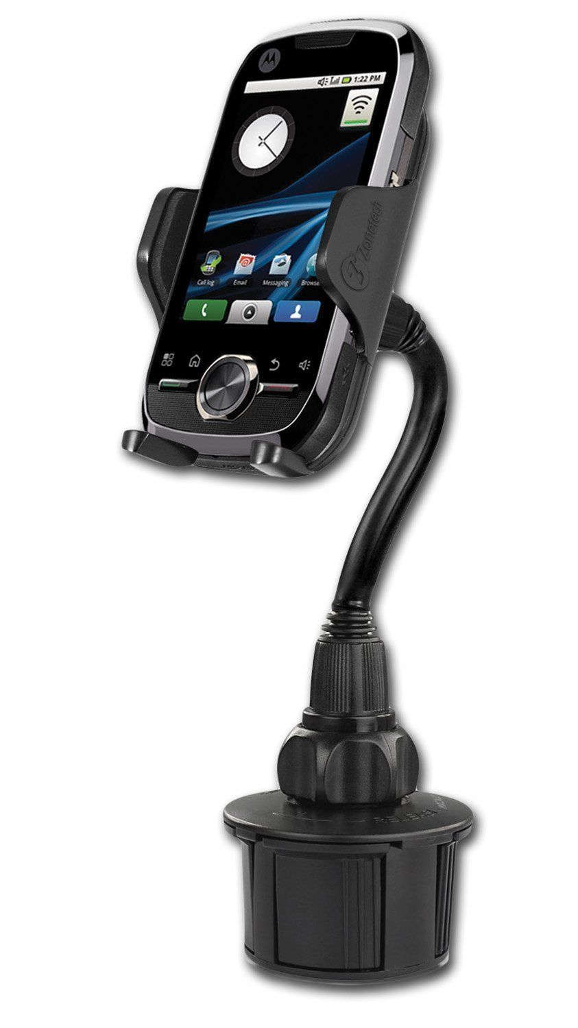 Zone Tech Car Cup Holder Mount 360 Adjustable GPS iPhone Samsung Andro