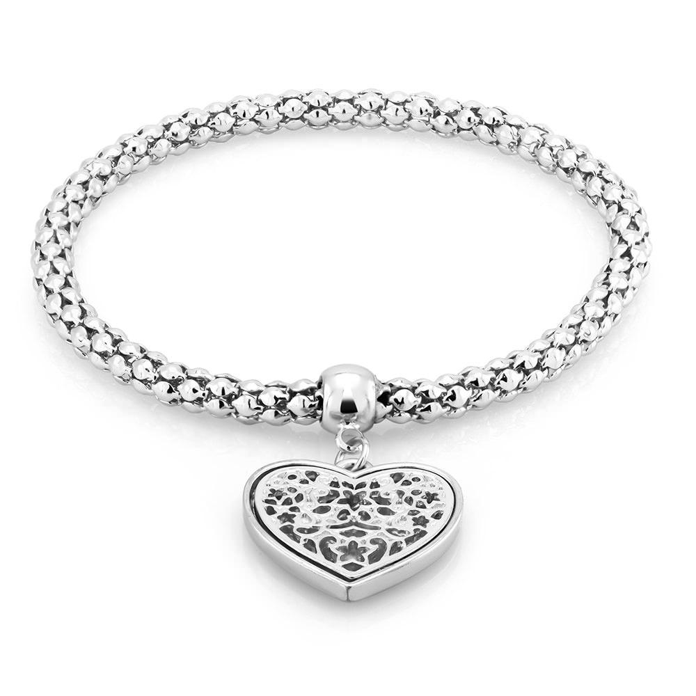Filigree Heart Charm Bracelet - 3 Colors
